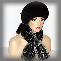 Женский шарф из меха Rex Rabbit (серый)