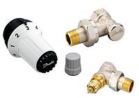 Комплект: угловой клапан RA-FN + термоголовка RAS-C + клапан запорный RLV-S