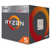 Процессор AMD Ryzen 5 (2400G 3,6GHz/4MB) Box, (YD2400C5FBBOX) оригинал Гарантия!