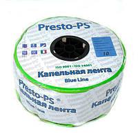 Капельная лента Presto-PS щелевая Blue Line отверстия через 10 см, расход воды 2,2 л/ч, длина 1000 м, фото 1