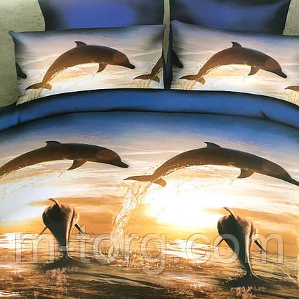Комплект постельного белья евро размер 200/220,простынь 220/240,нав-ки 70/70,ткань поплин 100% хлопок тигры, фото 2