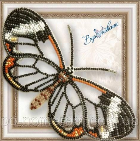 Бабочка из бисера вышивка на пластиковой основе Грета Ото (BGP049) (стеклянная)