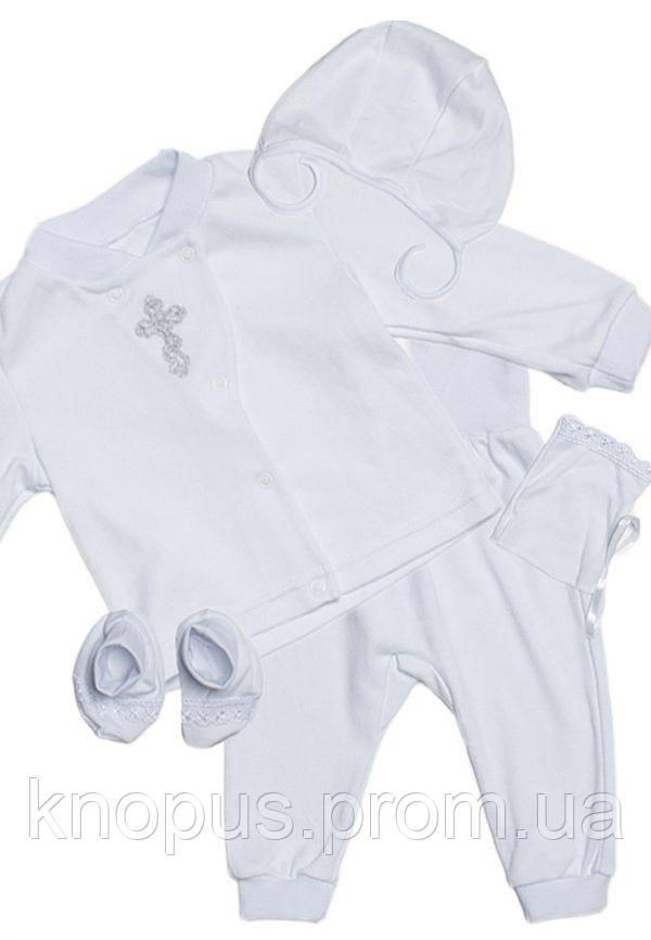 Крестильный набор для новорожденного, белый, Модный карапуз, раз меры 56-74