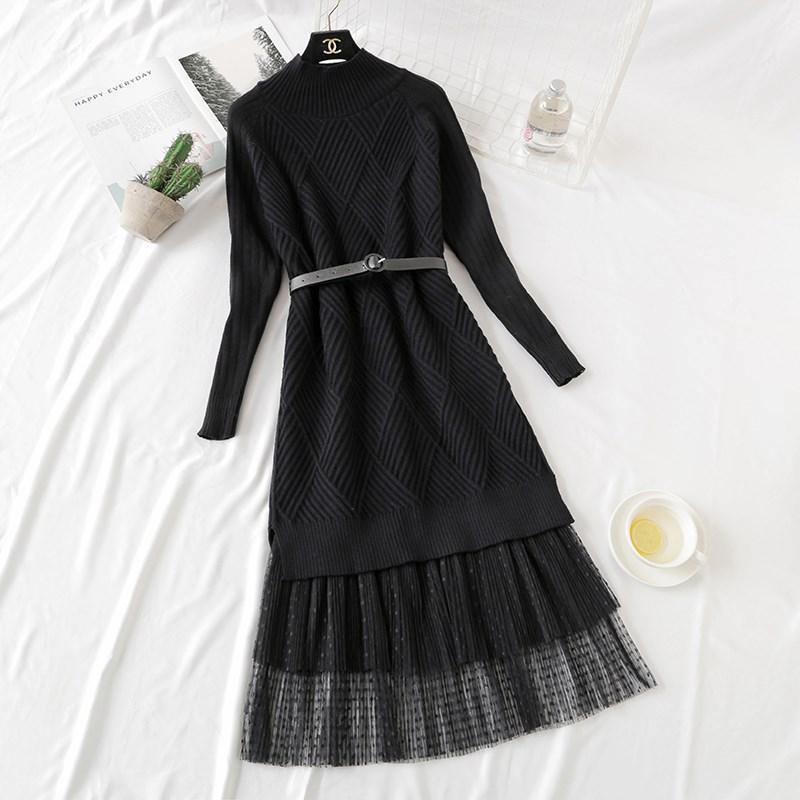Трикотажное платье с фатиновой юбкой (в расцветках 44-46)