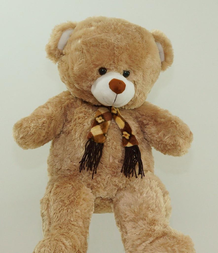 Великий плюшевий Ведмедик 95 см м'яка іграшка на подарунок Ведмідь в шарфі