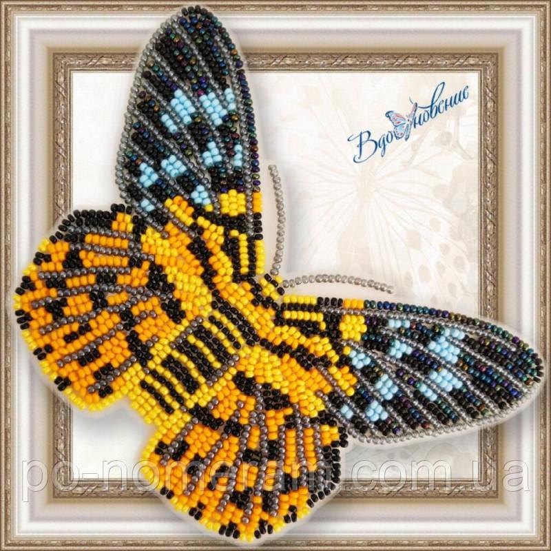 Бабочка из бисера вышивка на пластиковой основе Dysphania militaris (BGP066)