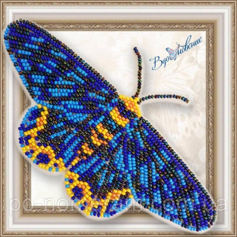 Бабочка из бисера вышивка на пластиковой основе Dysphania numana (BGP070)