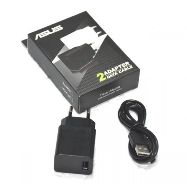 Сетевое зарядное устройство ASUS + кабель Micro USB (1 USB, 2A) черный