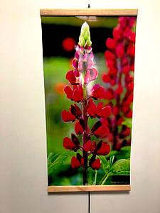 Обогреватель инфракрасный картина- цветок красный. Мощность 200 Вт., размер 1000 х 500 мм.