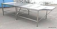 Cтол формовочный  3300х1400 из нержавеющей стали (с одним вырезом для оператора), фото 1