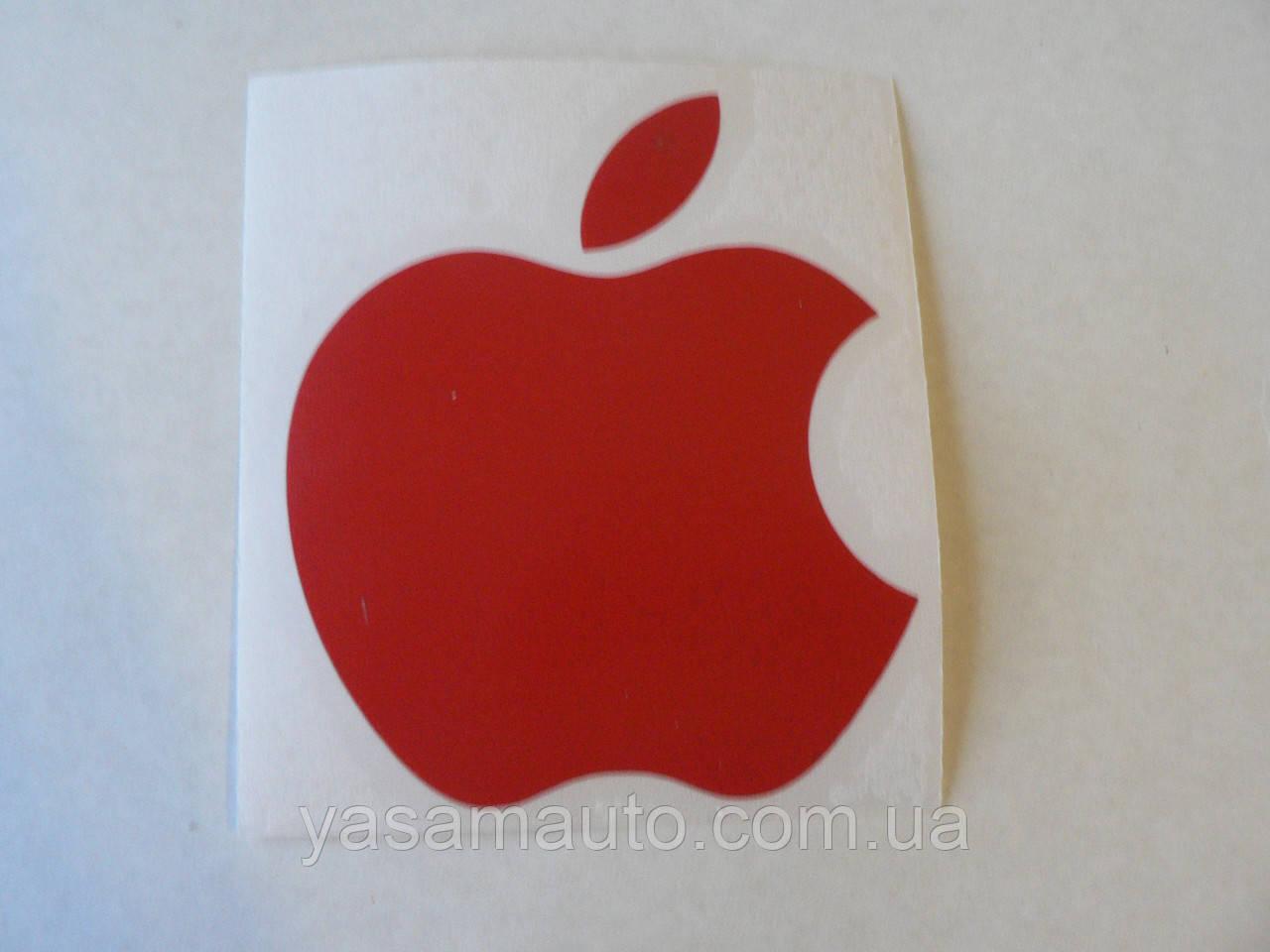 Наклейка vc APPLE 70х85мм красное виниловая контурная эпл яблоко яблочко на авто