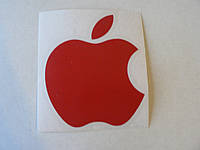 Наклейка vc APPLE 70х85мм красное виниловая контурная эпл яблоко яблочко на авто, фото 1