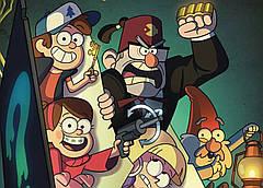 Картина GeekLand Gravity Falls Гравити Фолз постер к мультфильму 60х40см GF.09.001