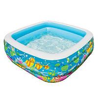 Бассейн надувной квадратный детский Аквариум INTEX 57471