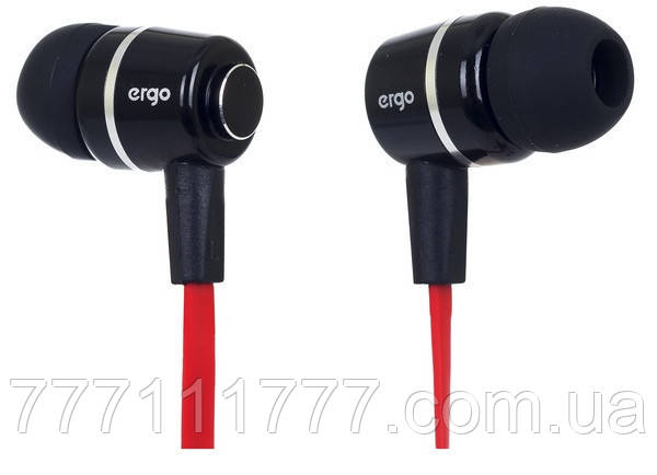 Наушники Ergo ES-200 Black Гарантия! (ПРЕДОПЛАТА 100%)