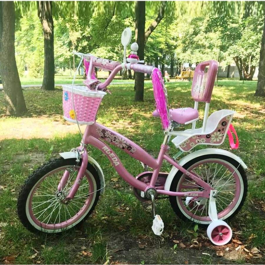 """Велосипед Sigma Rueda 18"""" с сидением для куклы"""