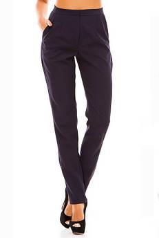 Синие брюки с высокой посадкой Сислей