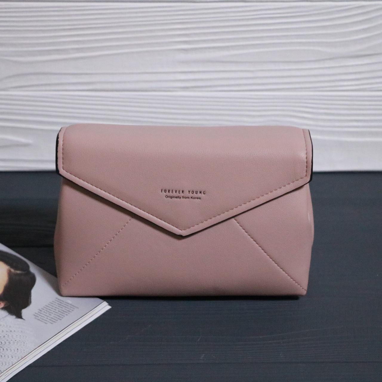 f8bc2bbf8d28 Женская сумка конверт Forever young Нежно-розовая, цена 350 грн., купить в  Обухове — Prom.ua (ID#890497720)