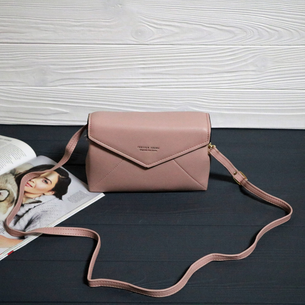 608c194d3771 Женская сумка конверт Forever young Нежно-розовая - BORSA STORE | Интернет  магазин сумок и