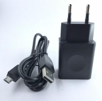 Сетевое зарядное устройство Lenovo + кабель Micro USB (1 USB, 2A) черный