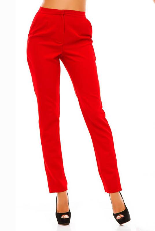 Красные классические брюки Сислей