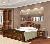 """Двоспальне ліжко """"Діана"""" 160*200  від Світ меблів (піно горіх / піно горіх лак)."""