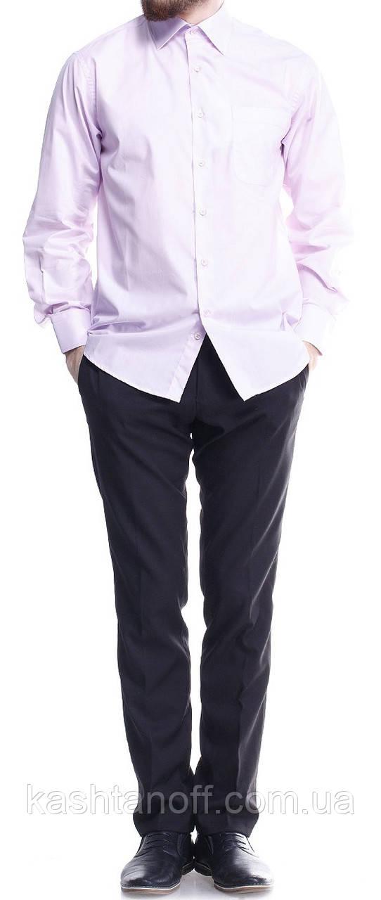 """Светло-сиреневая рубашка с длинным рукавами """"Каштан"""""""