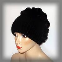 Женская меховая шапка из ондатры, комбинированная с Rex Rabbit, фото 1