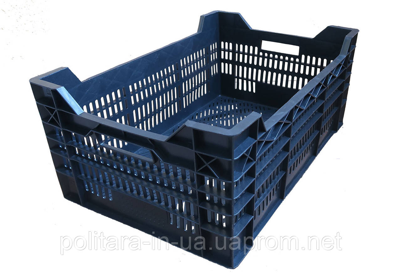 Ящик пластиковый 600x400x260 черный