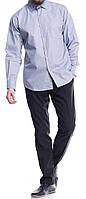 Мужская рубашка серого цвета