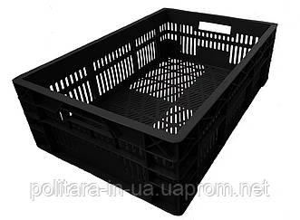 Ящик для овощей черный прямоугольный 600x400x180