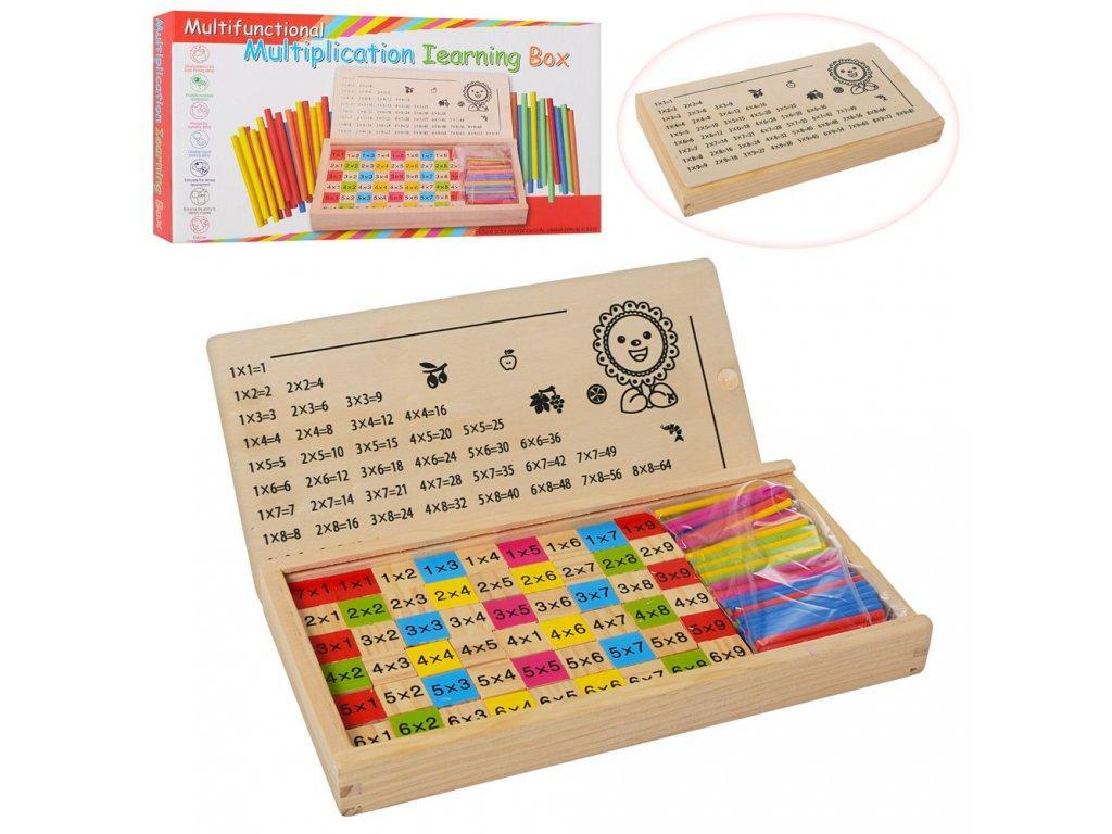 Дерев'яна таблиця множення + лічильний палички.