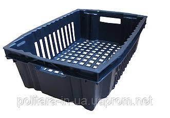 Ящик пластиковый для овощей 600x400x180 черный