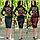 Черная юбка карандаш из экокожи 8034, фото 5