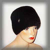 Женская меховая шапка из норки (кубаночка)