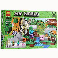 Конструктор Bela 10468 Железный голем, аналог Lego Майнкрафт, Minecraft, фото 1