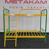 Металлическая двухъярусная кровать Bambo Duo 140х60 см. Метакам