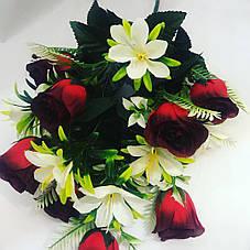 Искусственный букет роза бутон с добавками., фото 2