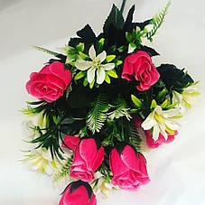 Искусственный букет роза бутон с добавками., фото 3