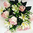 Искусственный букет роза бутон с добавками., фото 4