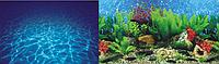 Фон для аквариума двусторонний  морское дно/3д растения, высота 60 см, 9019/9063