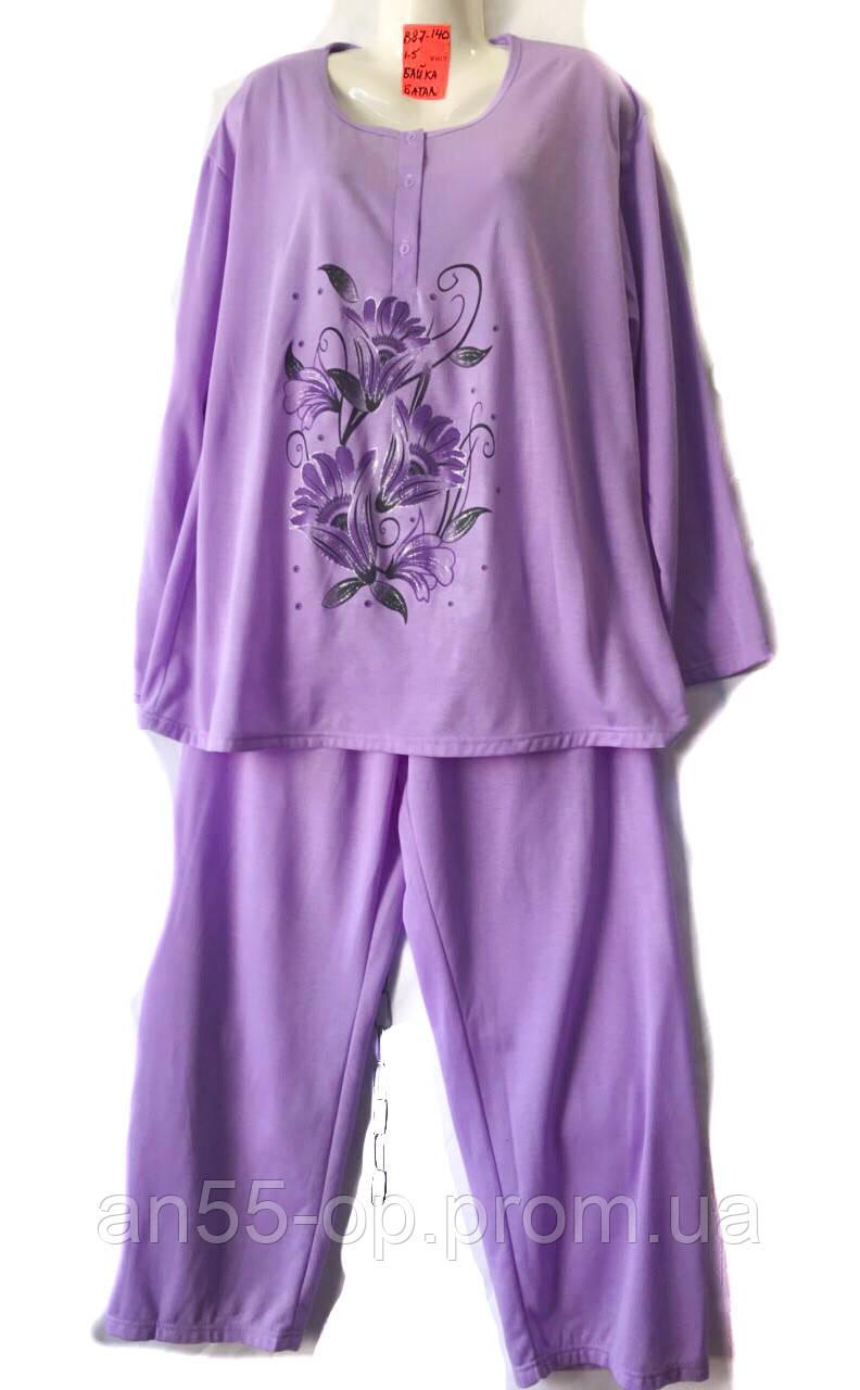 0a5785523266 Пижама женская баика (P .XL-5XL) купить оптом производителя (7км Одессе) ...