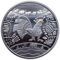 Рік Півня Год Петуха Срібна монета 5 гривень срібло 15,55 грам