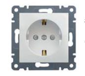 Розетка с заземлением с защитой контактов (со шторками) Lumina-2, Hager