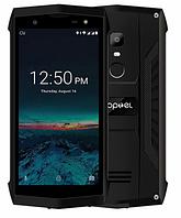 """Защищенный смартфон Poptel p8 black черный (2SIM) 5"""" 2/16ГБ 5/8Мп 3G 4G оригинал Гарантия!"""