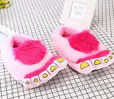 Домашние тапочки Ноги первобытного человека pink розовые