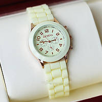 Женские часы Geneva Luxury молочные, фото 1