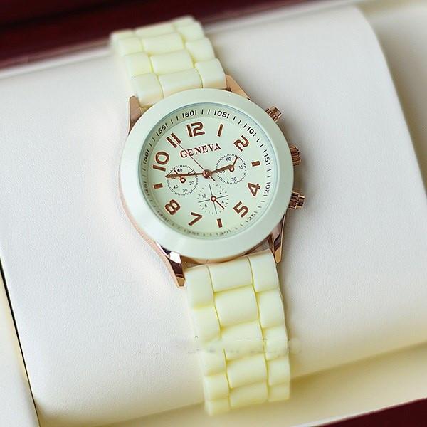 Женские часы Geneva Luxury молочные