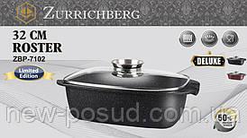 Гусятница 32x20.5x10 см с кованного алюминия с мраморным покрытием Zurrichberg ZBP-7102 Black