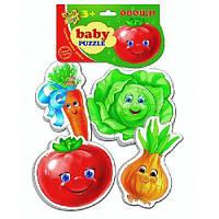 Беби пазлы Овощи (новый штрихкод) VT1106-03 .- Vladi Toys, ТМ ВладиТойс
